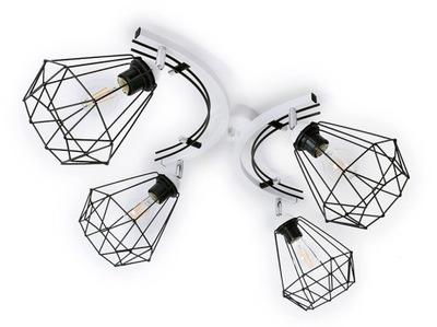 , stropné Lampy 4xE27 tienidlo luster strop žinku