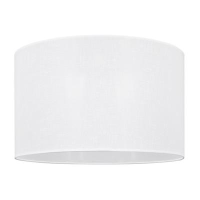 Svietidlo - tienidlo - Duży abażur do lampy walec 6W biały len 50/30 cm