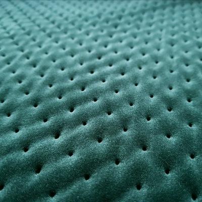 Tkanina tapicerska pikowana welur kropki zieleń