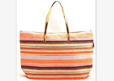 b2cbb1e70ee4 Brązowa torebka damska koszyk z kolorową podszewką - 7565622476 ...