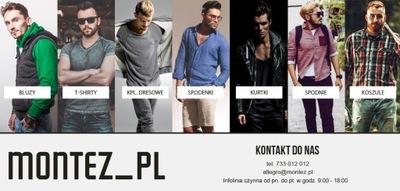 KOSZULA MĘSKA CASUALOWA BOTTON-DOWN MONTEZ_PL XL
