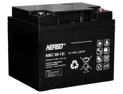 Akumulator NERBO NBC 12V/50Ah WÓZEK INWALIDZKI