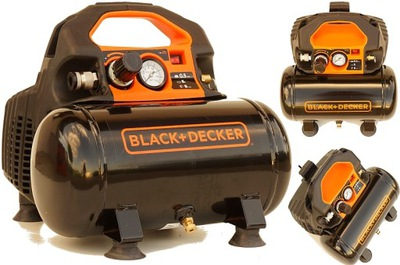 Black&Decker КОМПРЕССОР КОМПРЕССОР bezolejowy 6L