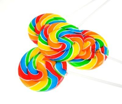 Леденцы Круглые цветные закрученные День Ребенка JW