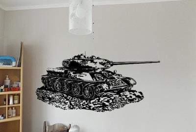 наклейка T34 танк легенда 130x50 см на стену 03