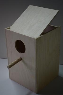 будка гнездования для попугаев - нимф конек козы