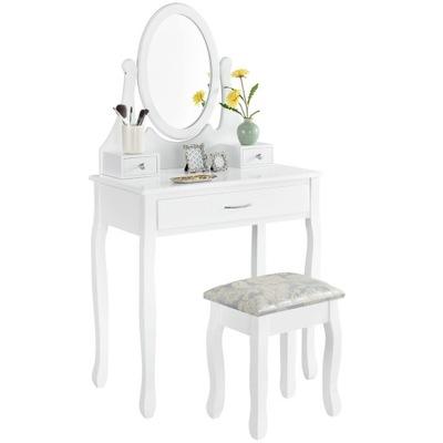 ТУАЛЕТНЫЙ столик и КОСМЕТИЧЕСКОЕ белая с зеркалом + Табурет .