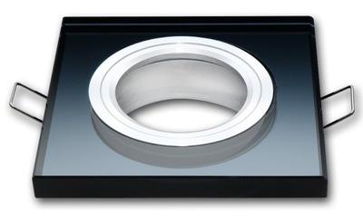 Галогенный прожектор LED стекло квадрат черная LedLine