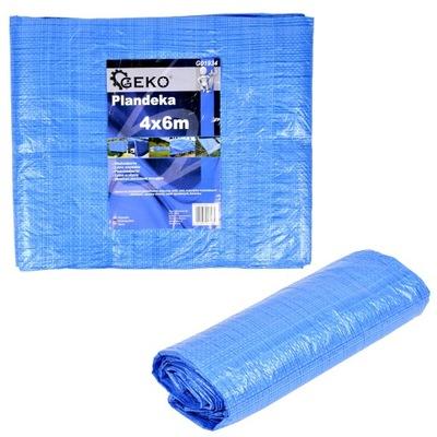 Krycia plachta - Celta - Plachta 5x6m modrá silná super kvalita 75g
