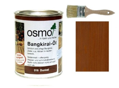 Осмо масло для Террас 016 Bangkirai 2 ,5л +Кисть