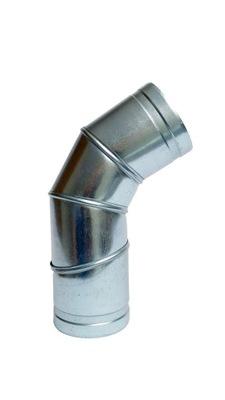 Koleno nastaviteľné 0-90 stupňov 180 mm kapota spiro had