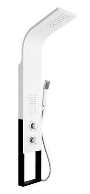 Sprcha - Sprchový panel čierny biely hliník