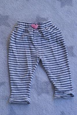 Dziewczęce spodnie w paski rozmiar 104