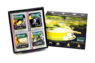 Dilmah алые бонбоньерка Green Teas 40 конвертов
