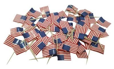 Зубочистки Pikery флаг ??? США Америка 50 штук