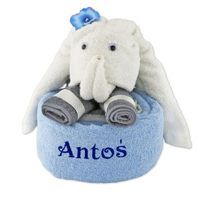 Slon vyrobené z uteráky, KRSTINY DAR roka, resp Výšivky 2