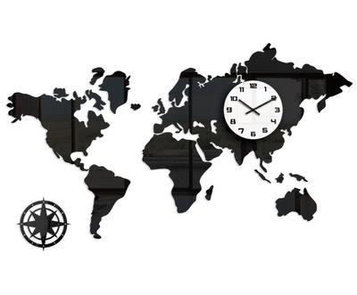 часы настенный World - Карта Мира 120 x70 стильный