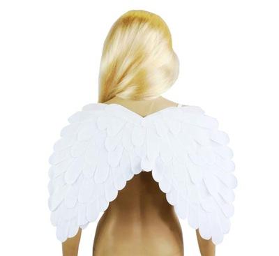 Karnevalový kostým, maska - BIELA samet WINGS ANGEL s plsťou 51x39cm