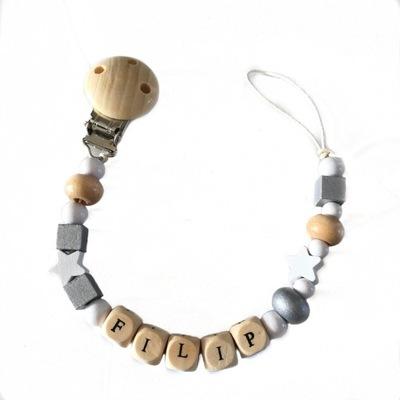 Ostatné detské šperky - Drevený cumlíkový reťazec