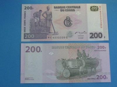 Конго Банкнота 200 Francs 2007 P-99 UNC