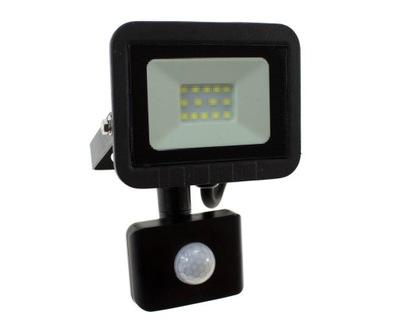 Naświetlacz LED SLIM 10W halogen Z CZUJNIK RUCHU