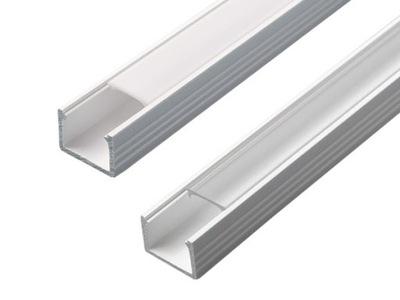 Профиль для лент LED Глубокий Белый + АБАЖУР 2м