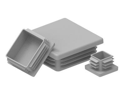 80x80 KONEKTORY PRE PROFILY - 100 KS. SIVÁ