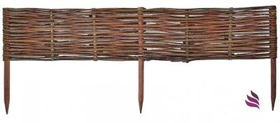 Plôtik, palisáda, obrubník - Výrobca drevených pergolov z prútia 100x40
