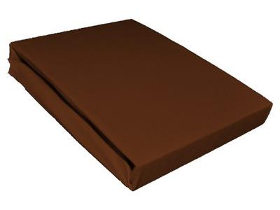 Plachta - Prześcieradło jersey 160x200 bawełna czekoladowe