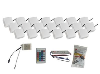 Nájazdové, nášľapné svietidlá - 20x Świecąca Kostka Brukowa LED 10X10 Holland RGB