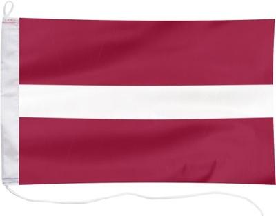 Flaga Łotwy bandera jachtowa Łotwa 65x40cm