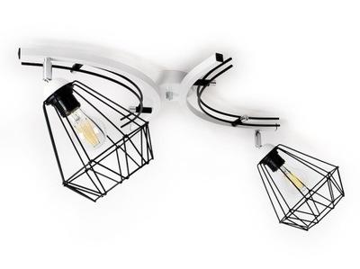 stropné svetlo kabíny luster stropné svietidlo 2xE27 žinku