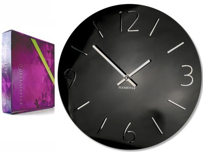 Veľké moderné nástenné hodiny SLIM lesk zrkadla