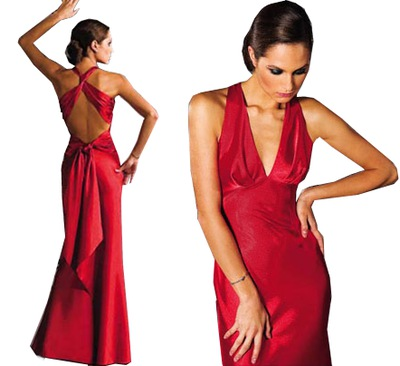 af61e3de84af93 Czerwona długa suknia rybka MONA 192 42 - XL - 4998302465 ...
