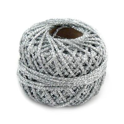 шнурок парчовое 2 ,5 мм не менее 4мб серебро ролик