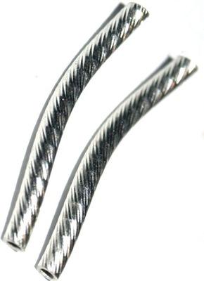 трубка серебряная diamentowana кудрявая 2 см/2 мм/Ноль ,8 ??