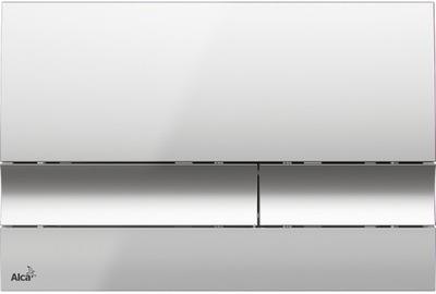 Splachovacie tlačidlo pre závesné WC - Alcaplast WC rámček M1721 chrómový lesk