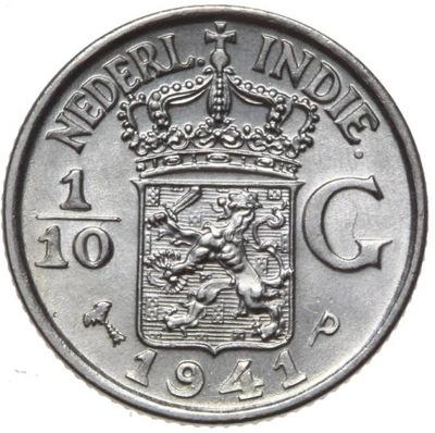 Индия Холл. 1 /10 Голденс 1941 P - серебро - MENNICZA