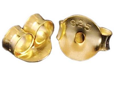 VERSIL- baranki zatyczki złocone 2 szt SREBRO 925