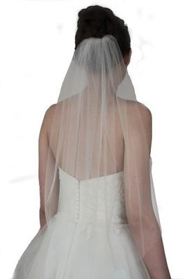 Welon ślubny jednowarstwowy gładki 70 cm