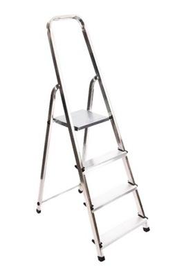 Лестница алюминиевая 4 ступенчатая лесенка ДОМАШНЯЯ