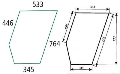 Szyba drzwi dolna lewa prawa Ursus C-385 912 914