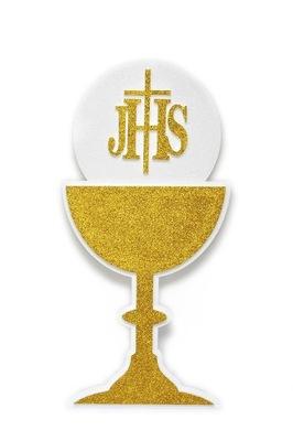 Dekorácie A Komunikačných IHS gold Cup cross 100 cm