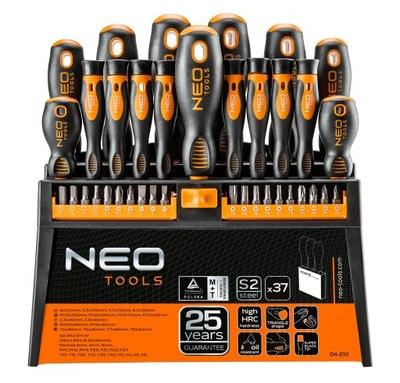 комплект НАКОНЕЧНИКА ОТВЕРТКИ биты 37 штук Neo 04-210