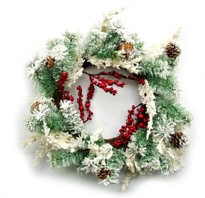 Vianočný veniec s dekoratívne ŠIŠKY 50 cm VIANOCE