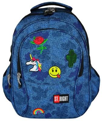 Školské tašky ST.PRÁVO BATOH BP1 4-vrecko DŽÍNSY IKONY 618727