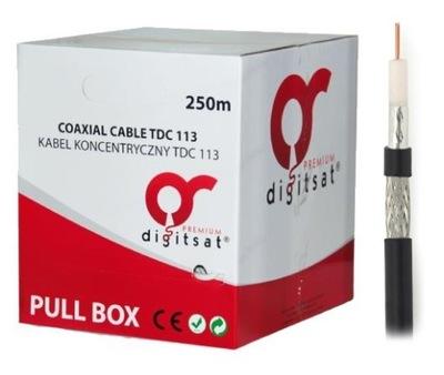 Kábel Koaxiálny Kábel RG6 Medi PE 250 1,13 CU m