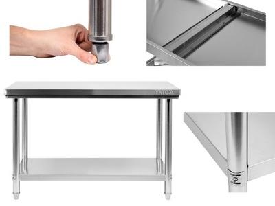 Pracovný stôl, stavebný podstavec -  PRACOVNÁ TABULKA YATO 140x60cm NÁPOJOVÝ NEREZ