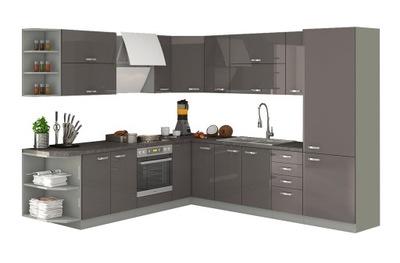 Мебель Кухонные ОЛЬГА Grey ВЫСОКИЙ блеск - комплект