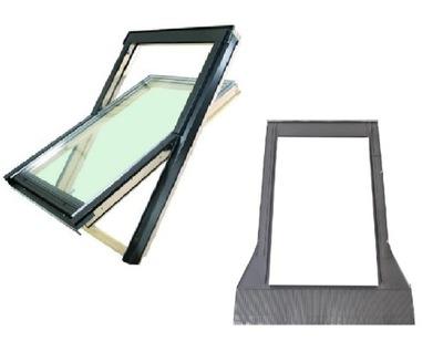 Okno Okna dachowe FAKRO FTS U2 78x118 + KOŁNIERZ